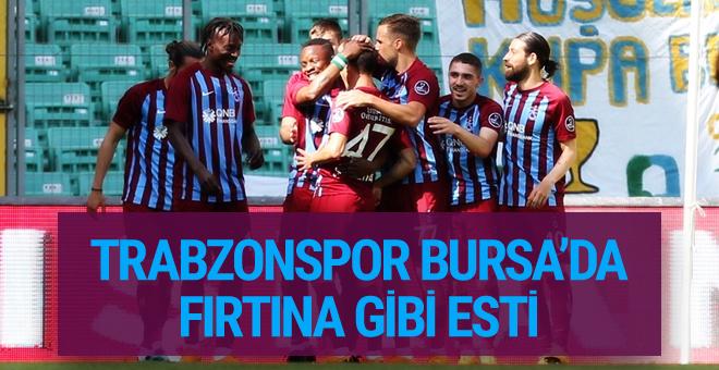 Bursaspor - Trabzonspor maçı golleri ve geniş özeti