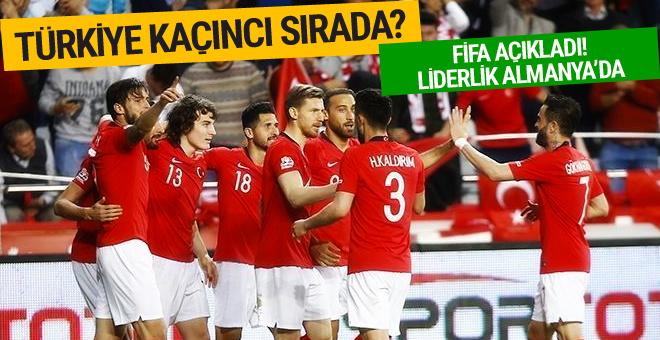 Türkiye'nin FIFA dünya sıralamasındaki yeri belli oldu