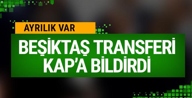 Beşiktaş Tosic'in transferini KAP'a bildirdi