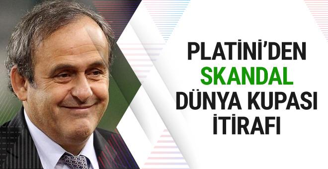 Michel Platini'den Dünya Kupası fikstür itirafı