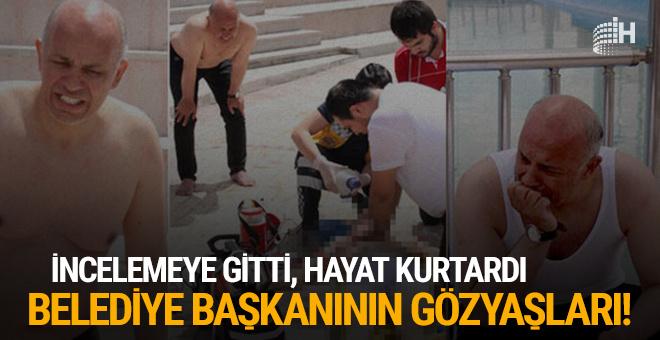İnceleme için gitti, hayat kurtardı: Belediye başkanının gözyaşları!