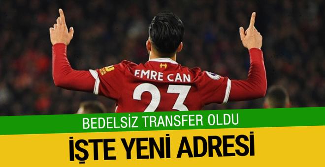 Emre Can Juventus'a transfer oldu