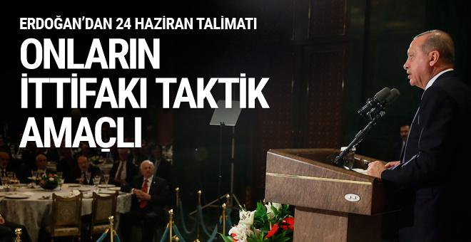 Erdoğan Beştepe'deki iftarda konuştu