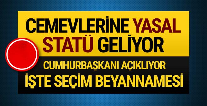 AK Parti'nin seçim beyannamesi açıklanıyor! İşte ayrıntılar...