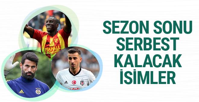 Süper Lig'de sezon sonu serbest kalacak isimler