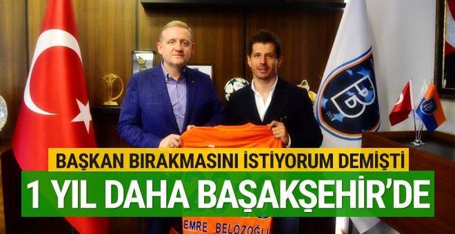 Başakşehir Emre Belözoğlu ile 1 yıl daha uzattı