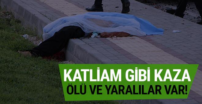 Gaziantep'te katliam gibi kaza: Ölü ve yaralılar var!