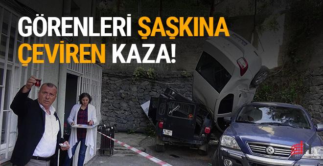 Beşiktaş'ta görenleri şaşkına çeviren kaza!