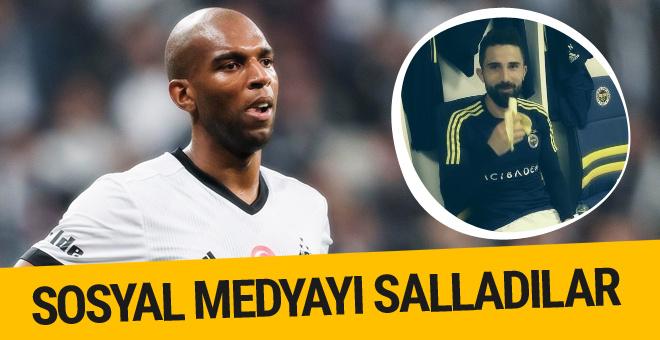 Hasan Ali ve Babel'den Fenerbahçe Beşiktaş derbisine gönderme