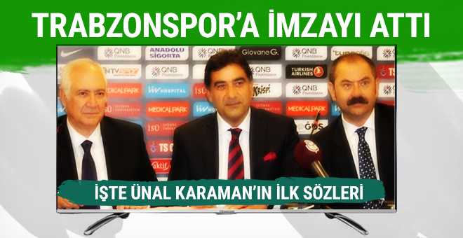 Trabzonspor Ünal Karaman ile sözleşme imzaladı