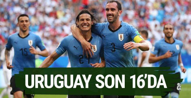Rusya'yı yenen Uruguay lider olarak son 16 turunda