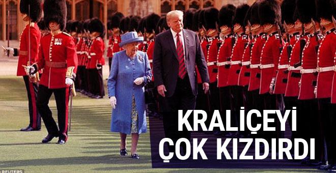 Görüntüleri ortaya çıktı! Trump Kraliçe'yi öfkelendirdi...