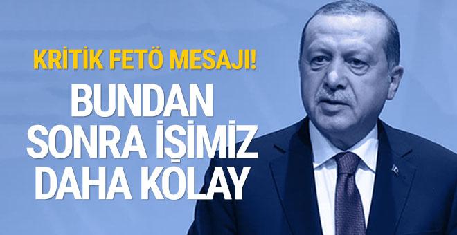 Erdoğan'dan çarpıcı mesajlar! Şehit yakınlarını ağırladı...