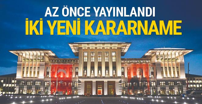 İki yeni Cumhurbaşkanlığı Kararnamesi yayımlandı