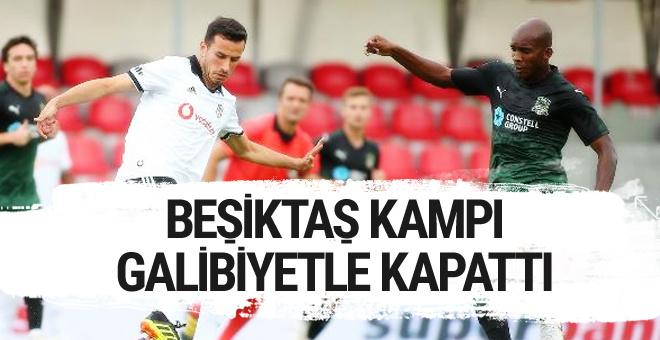Beşiktaş kampı galibiyetle kapattı