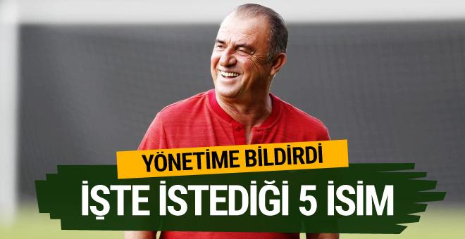 Galatasaray'da Fatih Terim'in istediği 5 isim