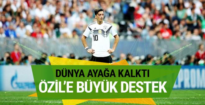 Dünya ayağa kalktı! Mesut Özil'e büyük destek