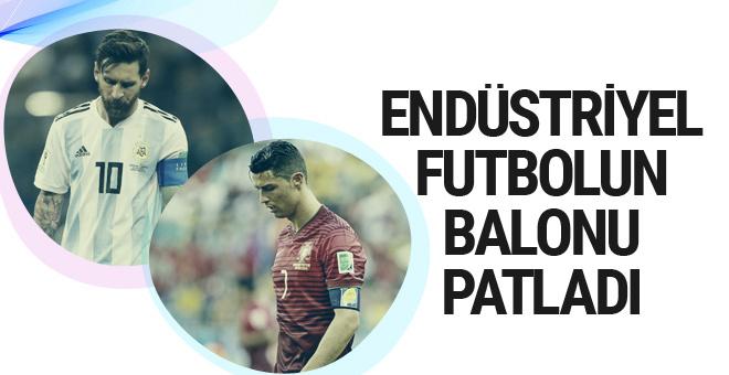 Endüstriyel futbolun balonu patladı
