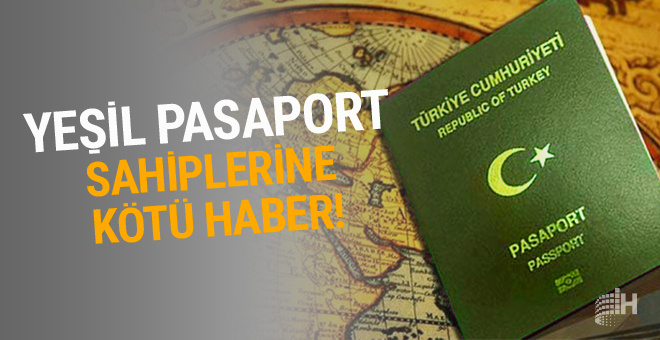 Yeşil pasaport sahiplerine kötü haber! Artık ücret ödeyecekler...