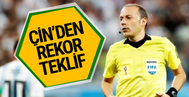 Cüneyt Çakır'a Çin'den rekor transfer teklifi