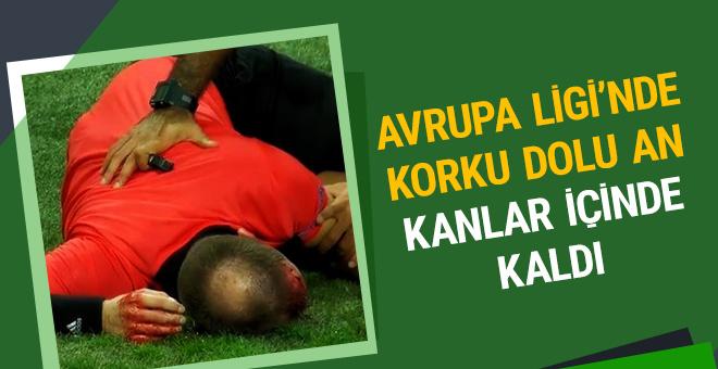 Avrupa Ligi'nde korku dolu an! Hakem kanlar içinde kaldı…