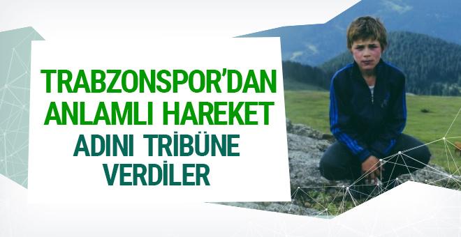 Eren Bülbül'ün adı Trabzonspor tribününe verildi