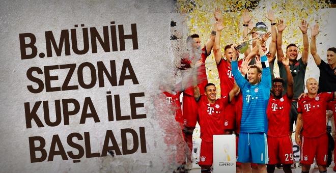 Bayern Münih sezona kupa ile başladı