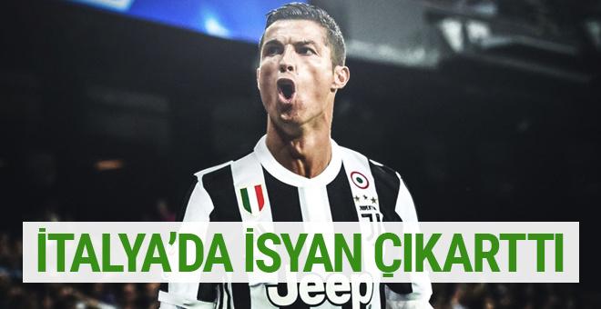 İtalya'da Cristiano Ronaldo isyanı
