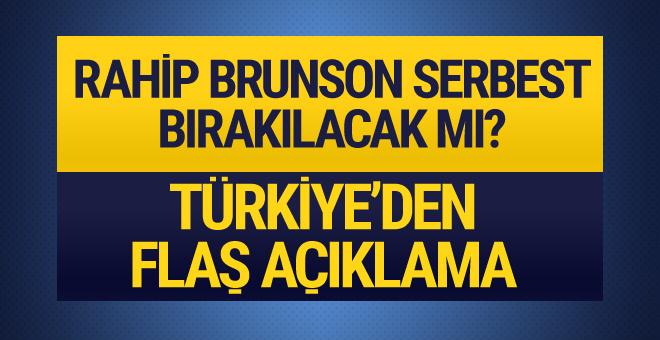 Rahip Brunson serbest bırakılacak mı Mevlüt Çavuşoğlu açıkladı!