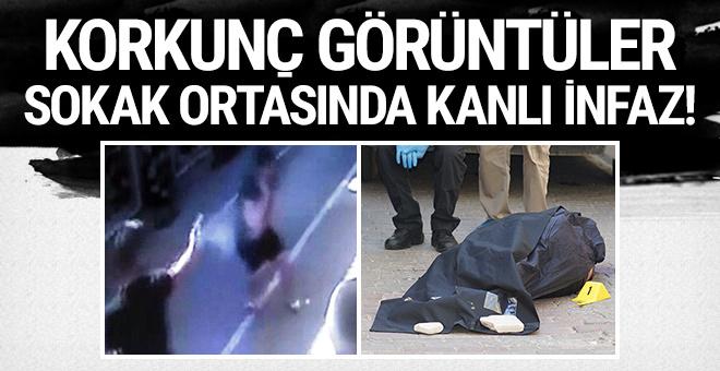 Korkunç görüntüler: Sokak ortasında kanlı infaz!