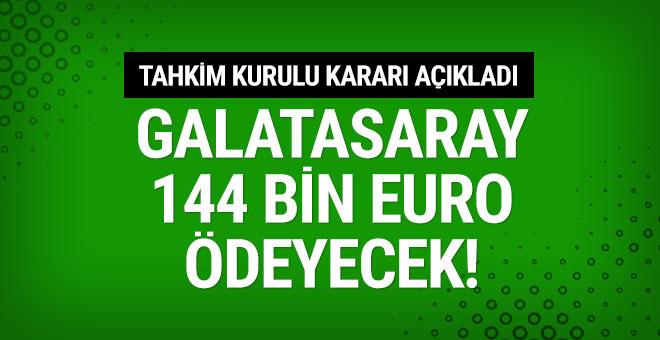 Galatasaray Ahmet Bulut'a 144 bin euro ödeyecek!