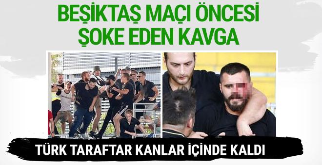 Linz - Beşiktaş maçı öncesi kavga!