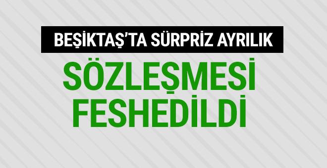 Beşiktaş ile sözleşmesi feshedildi