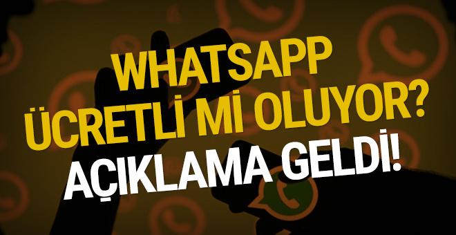 WhatsApp ücretli mi oluyor? Açıklama geldi!