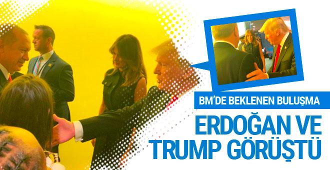 Erdoğan-Trump BM'de bir araya geldi