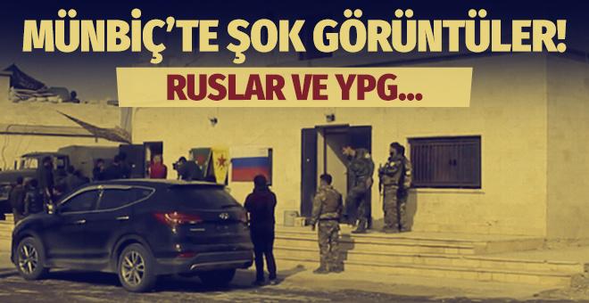 Münbiç'te şok görüntüler! Ruslar ve YPG…