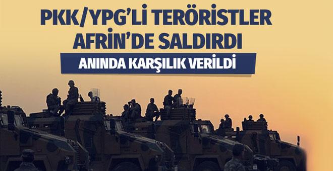YPG'li teröristler saldırdı! TSK karşılık verdi