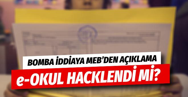 e-Okul hacklendi iddiasına MEB'den açıklama