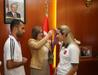 Görme engelli şampiyonlardan Şahin'e ziyaret