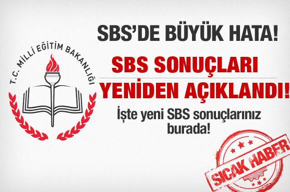 2013 SBS sonuçları tekrar açıklandı!
