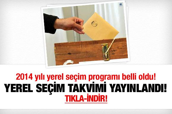 2014-Yerel seçim takvimi yayınlandı!