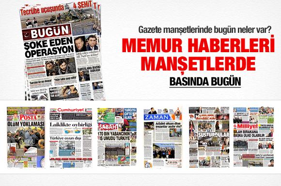 18 Aralık 2013 tarihli gazete manşetleri