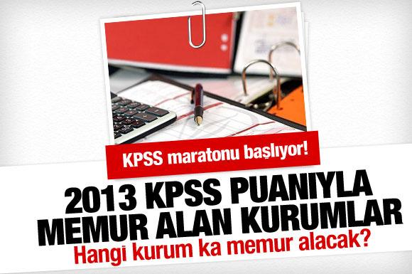 2013 KPSS puanına göre memur alımları