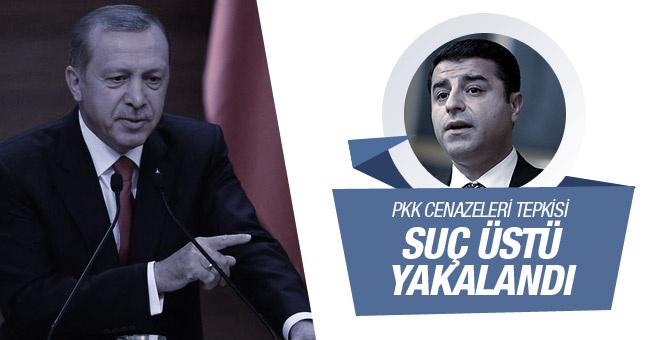 Erdoğan'dan Demirtaş'a PKK cenazesi tepkisi
