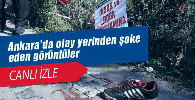 Ankara'da patlama canlı yayın