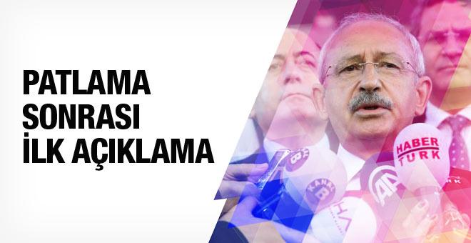 Kılıçdaroğlu'ndan patlamaya ilişkin ilk açıklama