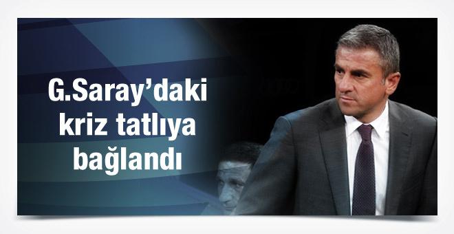 Galatasaray'da kriz tatlıya bağlandı