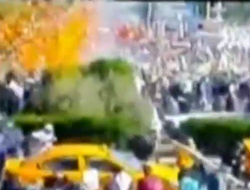 Ankara'daki patlama sonrası panik anları kamerada