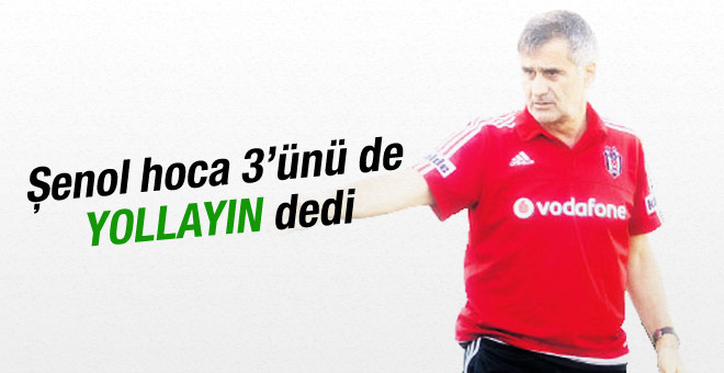 Beşiktaş'ta 3 futbolcunun bileti kesildi