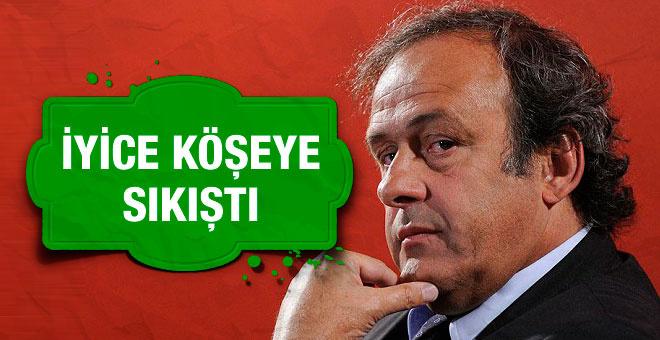 Michel Platini iyice köşeye sıkıştı